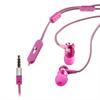 Auriculares Estéreo Cordón Rosa/Blanco metálicos 3,5mm con micro y botón compatibilidad Muvit