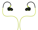 Auriculares Estéreo Deporte resistentes al sudor Negro/Verde jack 3,5 mm con micro Muvit