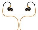 Auriculares Estéreo Deporte resistentes al sudor Negro/Naranja jack 3,5 mm con micro Muvit
