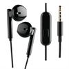Muvit Auriculares estéreo botón negro 3.5mm con micrófono muvit
