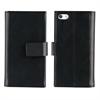 Muvit Funda Magnet Wallet Negra Función Soporte y Tarjetero iPhone SE muvit