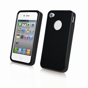Muvit - Funda Minigel Negra Apple iPhone 4/4S Muvit