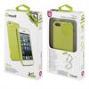 Funda Minigel Fina Glitter Verde Apple iPhone 5 Muvit