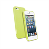 Muvit - Funda Minigel Fina Glitter Verde Apple iPhone 5 Muvit