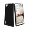 Funda Minigel Negra Humo Huawei Ascend P7 Muvit