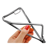 Muvit Funda Minigel Transparente con Marco Plata Apple iPhone 6 Plus/6S Plus muvit