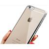 Muvit - Funda Minigel Transparente con Marco Plata Apple iPhone 6 Plus/6S Plus muvit
