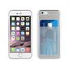 Muvit Funda Minigel Transparente con ranura para tarjetas iPhone 6/6S muvit