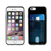 Muvit Funda Minigel Negra con ranura para tarjetas Apple iPhone 6/6S muvit