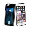 Muvit - Funda Minigel Negra con ranura para tarjetas Apple iPhone 6/6S muvit