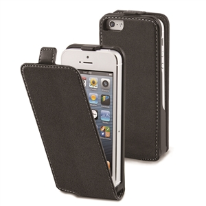 Muvit - Funda Slim Negra Apple iPhone 5 Muvit