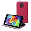 Funda Slim Folio Función Soporte Rosa/Negra Samsung Galaxy S5 Muvit