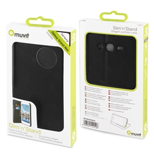 Muvit - Funda Slim Folio Función Soporte Negra Samsung Galaxy Grand Neo Muvit
