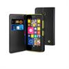 Funda Wallet Folio Negra Función Soporte y Tarjetero Nokia Lumia 635 Muvit