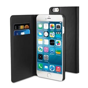 Muvit - Funda Slim Folio Función Soporte Negra Apple iPhone 6 5.5 Muvit