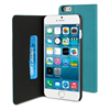 Funda Slim Folio Función Soporte Turquesa/Negra iPhone 6 5.5Muvit