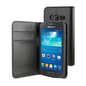 Muvit - Funda Wallet Folio Función Soporte Negra Samsung Galaxy Ace 4 Muvit