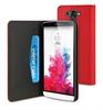 Funda Wallet Folio Función Soporte Roja/Negra LG G3 S Muvit