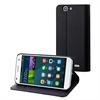 Muvit Funda Wallet Función Soporte Negra Huawei G7 muvit