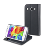 Muvit Funda Wallet Folio Función Soporte Negra Samsung Core Prime muvit