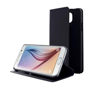Muvit - Funda Wallet Folio Función Soporte Negra Samsung Galaxy S6 Muvit