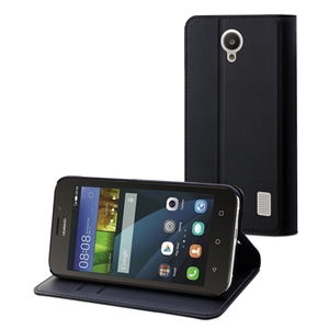 Muvit - Funda Wallet Folio Negra Funición Soporte Huawei Y635 muvit