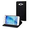 Muvit Funda Wallet Folio Negra Función Soporte y Tarjetero Samsung Galaxy J5 muvit