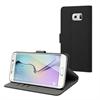 Muvit Funda Wallet Folio Negra Función Soporte y Tarjetero Samsung Galaxy S6 Edge Plus muvit