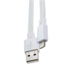 Cable USB-Lightning MFI Apple 2100mAh Blanco Plano (datos-carga) Muvit
