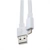 Cable USB-Lightning MFI Apple 2100mAh Blanco Plano (datos-carga) Muvit