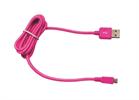 Cable USB-Micro USB 2100mAh Cordón Fucsia (datos-carga) 1.2m Muvit