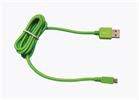 Cable USB-Micro USB 2100mAh Cordón Verde (datos-carga) 1.2m Muvit