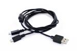 Cable USB-Doble Micro USB (Datos/Carga) 2100mA 1,2m Muvit
