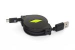 Muvit Cable USB Micro USB Retráctil 2.1A Negro muvit