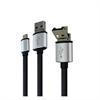 Muvit Cable OTG USB/Micro USB Plano Micro USB 2.1A 1m Negro muvit