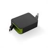 Muvit Cable USB Retráctil Micro USB 2.4A 0.8m negro/verde muvit