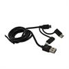 Muvit Cable USB 3 en 1 Micro USB + Type C + Lightning MFI (datos/carga) negro 1M muvit
