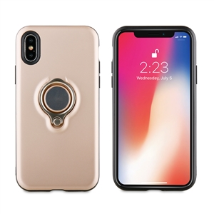 Muvit - muvit carcasa ring magnetica Apple iPhone X rosa oro