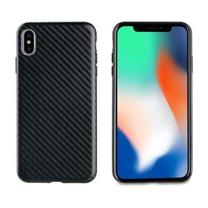 Muvit - muvit Cristal Soft Apple iphone 6,5&quote; funda fibra carbono negra