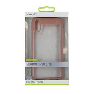 Muvit - muvit funda Cristal Bump Huawei P20 Lite rosa