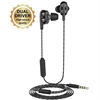 Muvit M1i+ auricular jack 3,5 mm con sistema dual driver negro