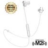 Muvit M2i+ auricular bluetooth inalámbrico con sistema dual driver blanco
