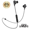 Muvit M2i+ auricular bluetooth inalámbrico con sistema dual driver negro