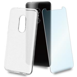 Muvit - muvit pack Alcatel 3 funda Cristal Soft transparente humo + protector pantalla vidrio templado plano