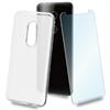 Muvit muvit pack Alcatel 3 funda Cristal Soft transparente humo + protector pantalla vidrio templado plano