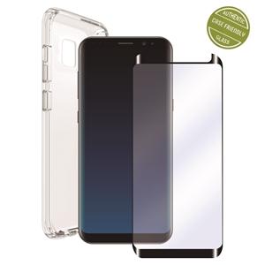 Muvit - Pack Funda Cristal Soft + Protarente+Protector de pantalla flexible Samsung Galaxy S9 Plus muvit