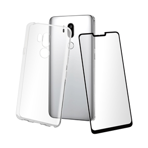3a0858d8e1a Muvit - muvit pack LG G7 2018 funda Cristal Soft transparente + protector  pantalla vidrio templado