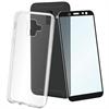 Muvit muvit pack Samsung Galaxy A6 2018 funda Cristal Soft transparente + protector pantalla vidrio templa