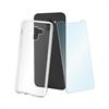 Muvit muvit pack Samsung Galaxy J6 2018 funda Cristal Soft transparente + protector pantalla vidrio templa