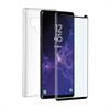 Muvit - muvit pack Samsung Galaxy Note 9 funda Cristal Soft transparente+protector pantalla vidrio templado
